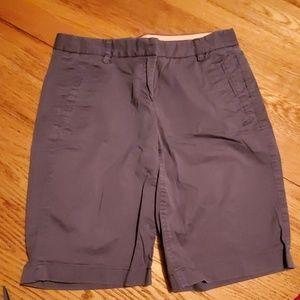 J crew stretch shorts long inseam